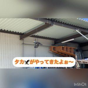 亀井の倉庫に空中警備員タッカーくんです。本日付で配属になりました。